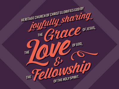 Grace, Love, & Fellowship christian christianity typography type