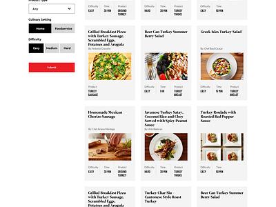 Turkey Recipes ux ui web cards recipes recipe food