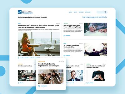 AOM research professional ux ui web design website hiring management content news