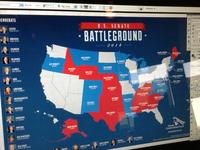 U.S. Senate Battleground infographic