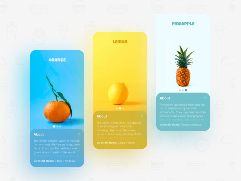Delicious Minimal UI Screens mobile design flat concept screens screen app ui design ui  ux uiux ui minimal