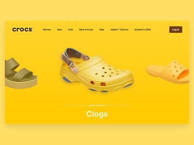 Crocs site Concept 1 ecommerce design ecommerce crocs minimal concept design ui  ux ux design ux uidesign uiux ui design ui