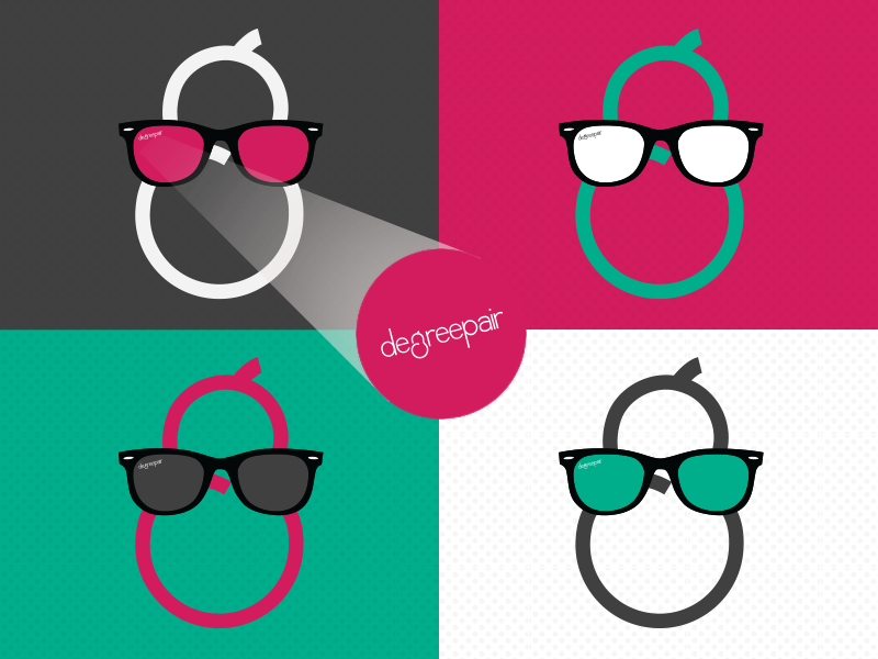 DegreePair Logo concept illustrator design logo character