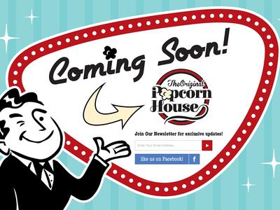 Original Popcorn House Landing Page