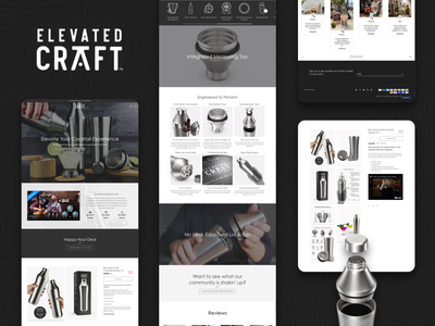 Elevated Craft Shopify Store shopify store design ux ui ecommerce web design shopify