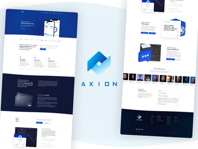 Axion Cryptocurrency Website branding web development ux ui website design webdesign cryptocurrency crypto web design cryptocurrency website