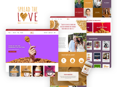 Spread The Love Shopify Website store ux ui ecommerce web design website design shopify website shopify web design shopify