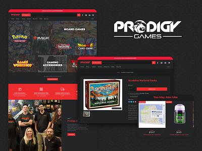 Prodigy Games Shopify Store web design shopify store branding ux ui web development website design ecommerce shopify web design shopify website shopify