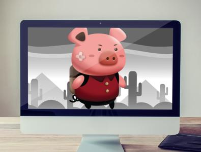 Cute little Pig Sprites game developer pig game asset pig sprites pig character cute pig cute gamedev pig