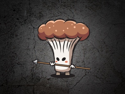 Mushroom sprites with a spear | game asset character mushroom character mushroom animation mushroom sprites obstacle game asset mushroom