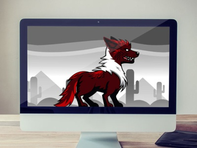 Red Wolf Sprites for Game Developers canine game asset sprites wolf red