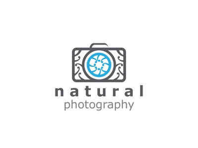 Natural Photography Logo natural photography wedding art floral flower camera cam photo picture logo