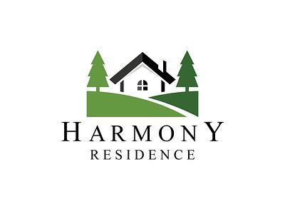 Harmony Residence Logo home house property tree pine nature harmony