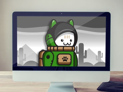 Kawaii Cat Astronaut Game Asset Character - Sprites for Gamedevs cute developers game indie gamedev gamedevs amongus astronaut character sprites game asset cat green