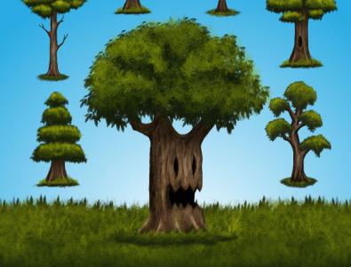 7 digital painting trees game asset tree background tree images tree image game background isolated tree isolated object digital painting tree
