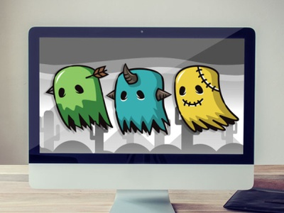 Spooky Ghost Game Asset - Enemy Game Character Sprites enemy game character ghost sprite sheets sprites ghost game asset ghost character ghost