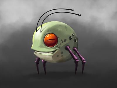 Ant Frog painting art gameasset gameart game illustration frog ant