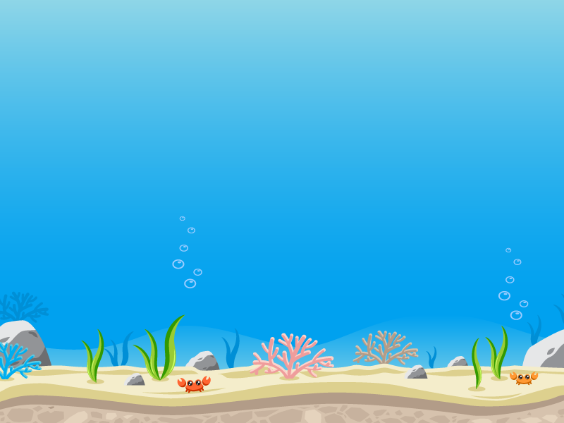 Under the sea ocean water aquarium game background game asset side scroller
