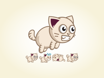 Action Game Character Sprite Sheets - Angry Cat