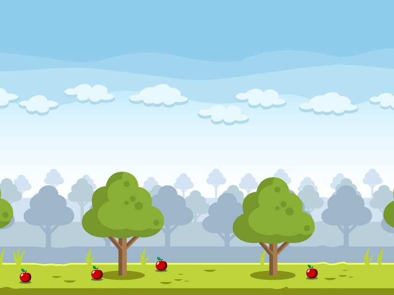 Apple Farm Village Game Background by bevouliin on Dribbble