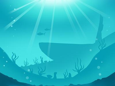 Under The Sea Background ocean sea rpg illustration