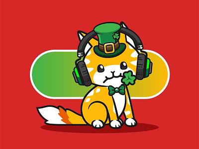 QuietSongCat #009 NFT leprechaun cat
