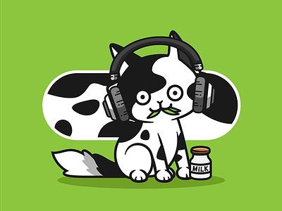 QuietSongCat #010 cow nft cow cat cow cat
