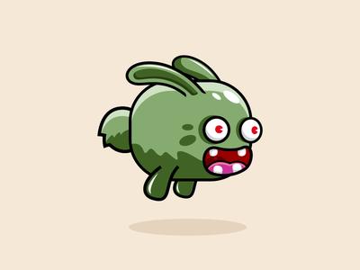 Flying Rabbit Monster Game Character