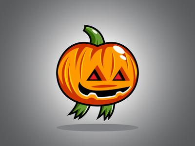 Flying Halloween Pumpkin