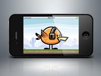 Orange Flappy Bird Game Character