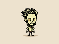 Man with Beard Game Character