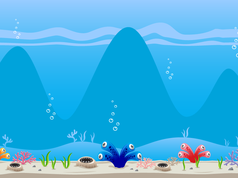 Creepy Deep Sea Monster Game Background By Bevouliin On Dribbble