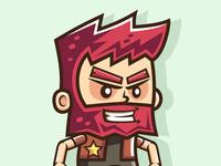 Red Beard Man   Jumping & Running Game Character