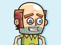 Baldy Old Man: Jumping & Running Game Character Sprites