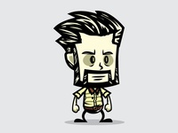 Bearded game character