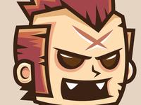 Punk Man Jumping And Running Game Character