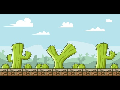 Cactus Island Game Background