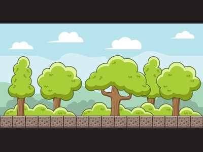 Peaceful Forest Game Background