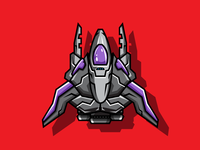 2D Spaceship Shooter Game Character
