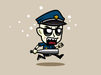 Angry Running Cop