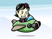 Female Aircraft Pilot Game Asset Sprites
