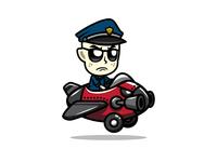Grumpy Cop Pilot Game Asset