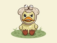 Grumpy Duck Illustration
