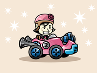 Lydia - Racing Girl Game Character