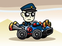 Grumpy Cop Police Officer