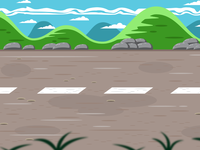 Racing Road Game Background