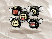 2D Bad Flies | Flying Game Character Sprites