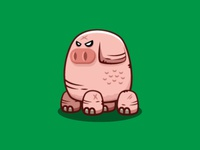 Pig Monster Game Asset