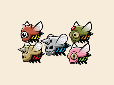 Armored Bee Sprites