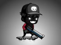 2D Game Asset - Shadow Shooter Boy